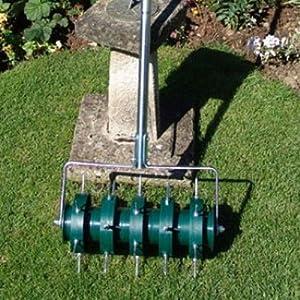 greenkey 30cm rolling lawn aerator - Aerate Lawn