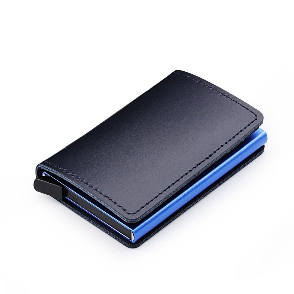 PU Leather Mens Credit Card Holder Pop-up Card Dlife Wallet Money Clip RFID Blocking Wallet