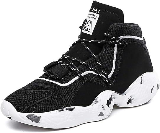 FJJLOVE Zapatillas de Baloncesto para Hombre, Altas ayudas ...
