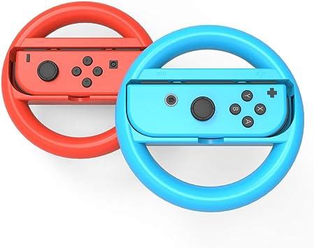Azul y rojo Volante para Nintendo Switch Joy-Con, agarre para la ...
