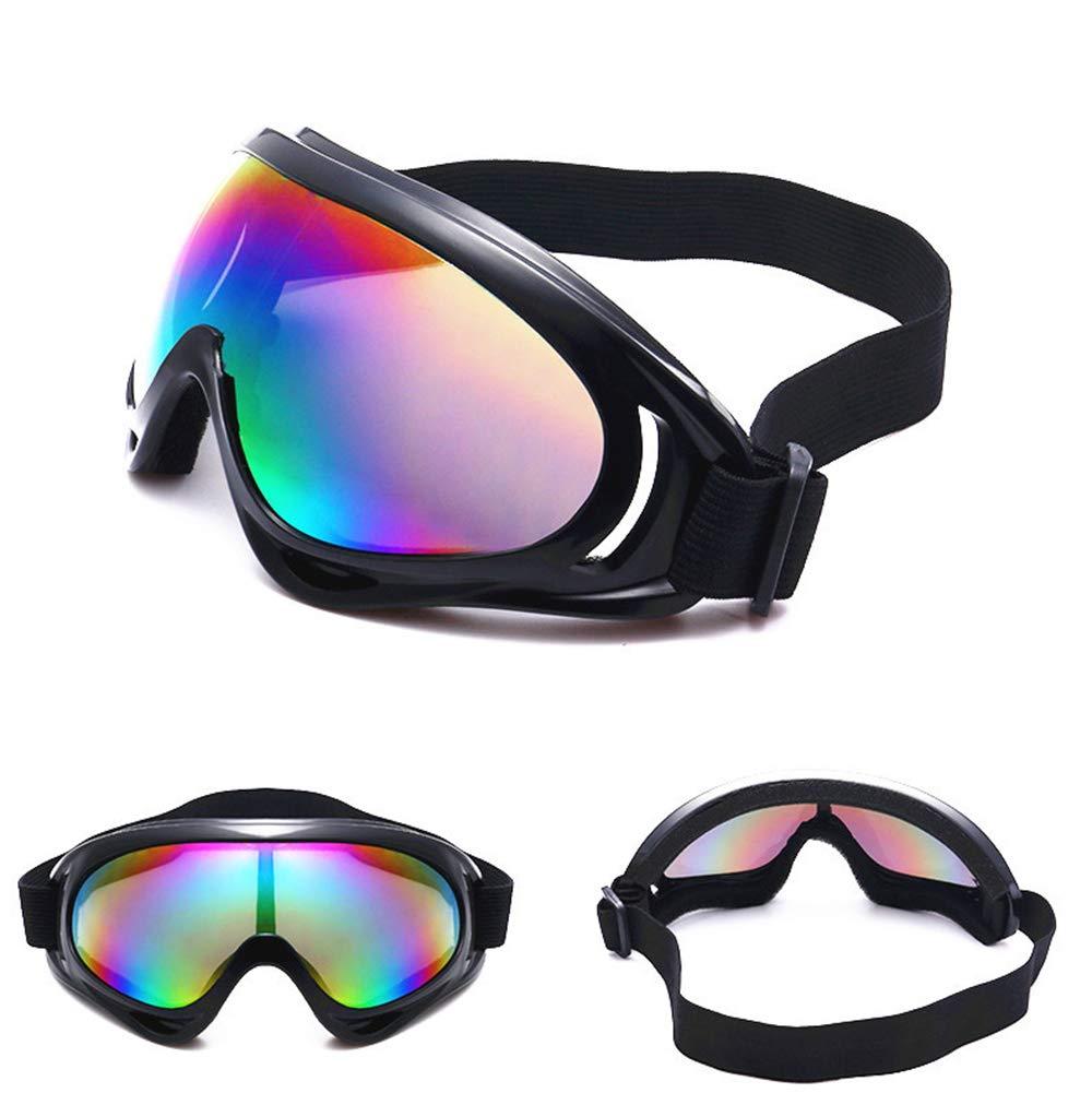 Anti-UV Anti-poussi/ère Anti-radiations TENDUAGEN Lunettes de Ski Lunettes Coupe-Vent Anti-Reflets Bande /élastique Ajustable A Anti-bu/ée
