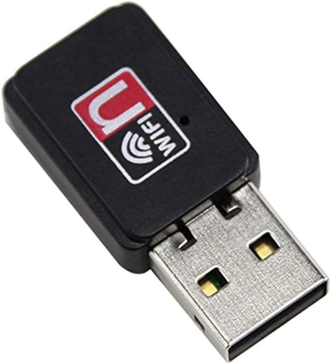 RoxTop Inal/ámbrico Wi-Fi Adaptador de Red del 150M del USB Tarjeta de Red para PC port/átil WiFi WiFi Dongle Receptor Externo de Antena Negro
