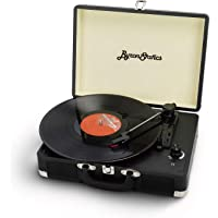 Byron Statics Vinyl Record Player, 3 Speed Turntable Record Player with 2 Built in Stereo Speakers, Replacement Needle…