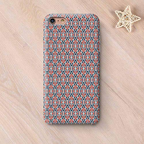 Paris Geometric Rug - Geometric Frosted & Smooth Surface Compatible with iPhone Case,Arabic Culture Inspired Abstract Nature Pattern Leaves Petals Compatible with iPhone 7/8 Plus,iPhone 6 Plus / 6s Plus