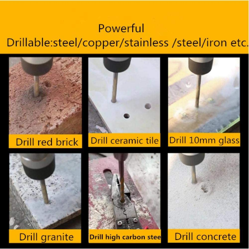 High Speed Steel Super Hard Drill Bit,Stainless Steel Bits for Tile Concrete Brick Glass Plastic and Wood-25pcs 25pcs