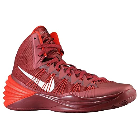 Nike Hyperdunk 2013 TB Men's Basketball Shoes (MAROON/METALLIC  SILVER/DISTANCE RED)