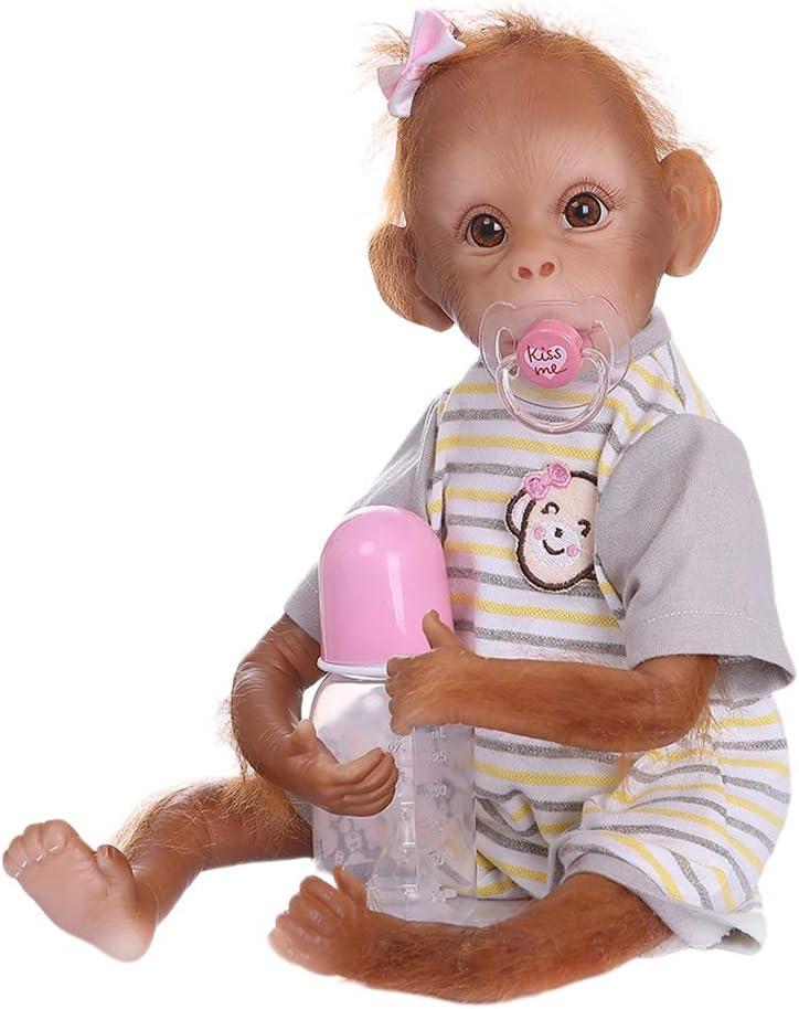 Amazon.es: Toygogo Bebé Mono Reborn de Silicona Suave y Algodón PP ...