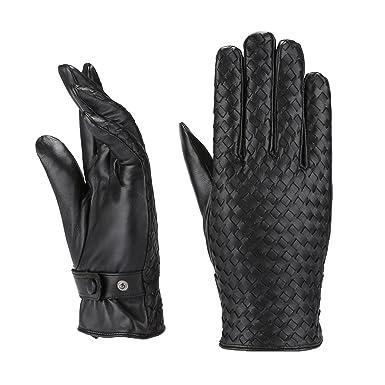 8f2cf537947 MoDA Mr. Cleveland Mens Genuine Leather Gloves Rare Find Woven ...