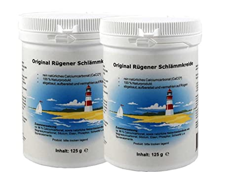 Original rügener schlämmk reide – Pack doble (2 x 125 g lata – Carbonato de