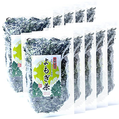 Japanese Tea Shop Yamaneen Mugwort-Tea Made In Miyazaki Without Agricultural Chemicals Non Caffeine 70G x 10packs by Japanese Tea Shop Yamaneen