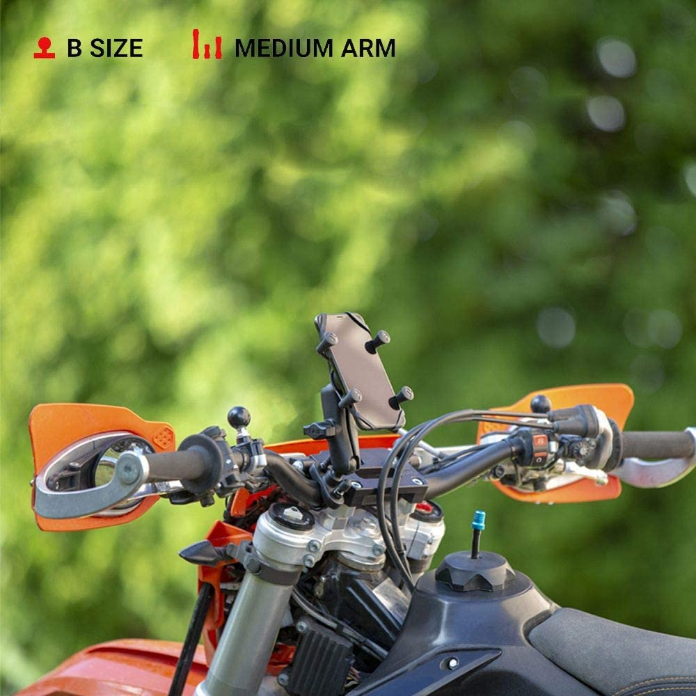 RAM X-Grip Phone Mount with Handlebar U-Bolt Base