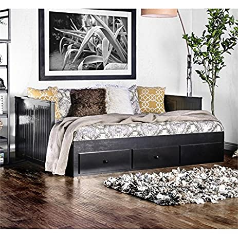 Furniture Of America Aidan Full Daybed With Drawers In Black