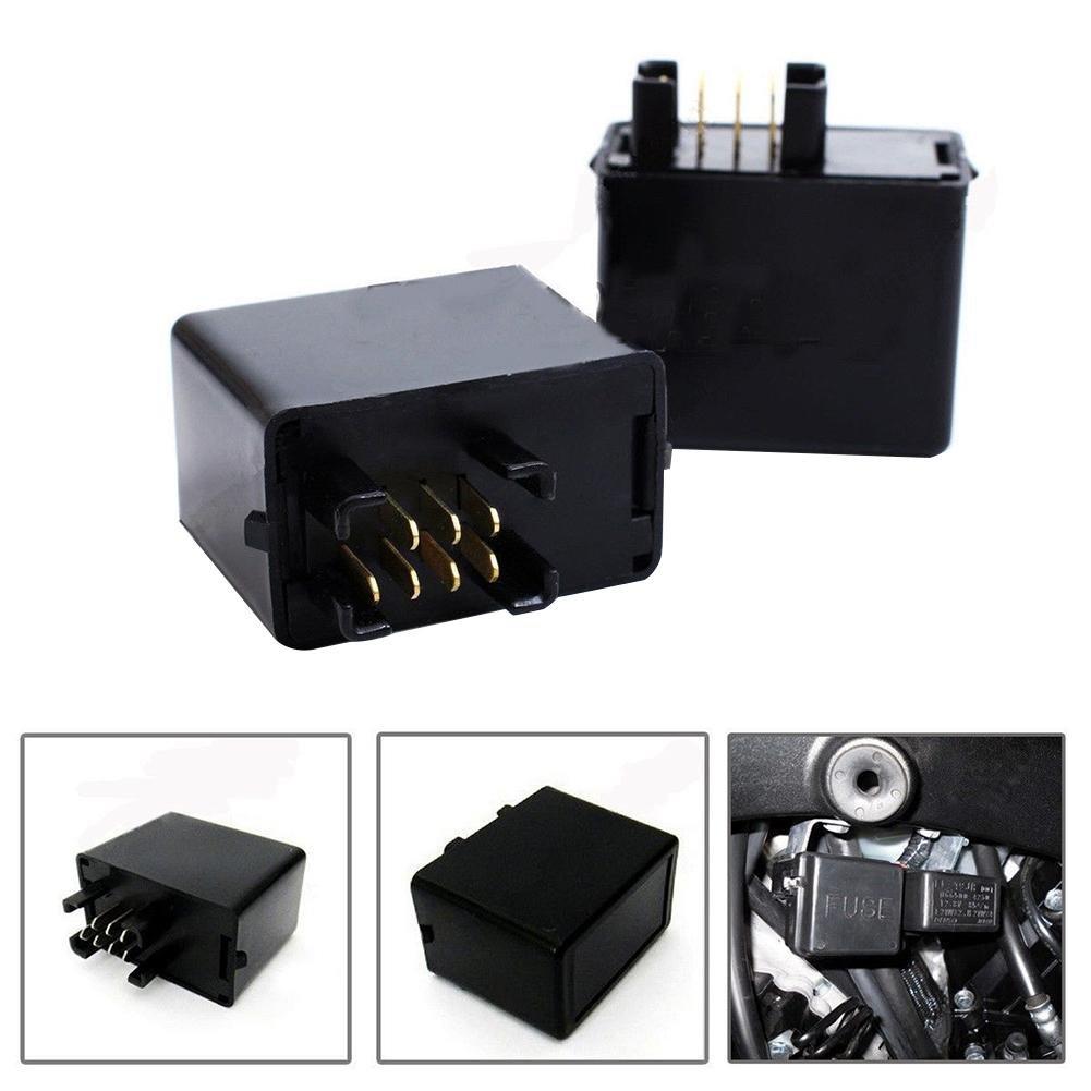 Funihut Relais 12V Relais pour Clignotants LED 7 Pin 12V pour Moto Relais Clignotant Clignotant à LED pour Suzuki GSXR 600 750 1000 GSF 650 Bandit Funihut-123
