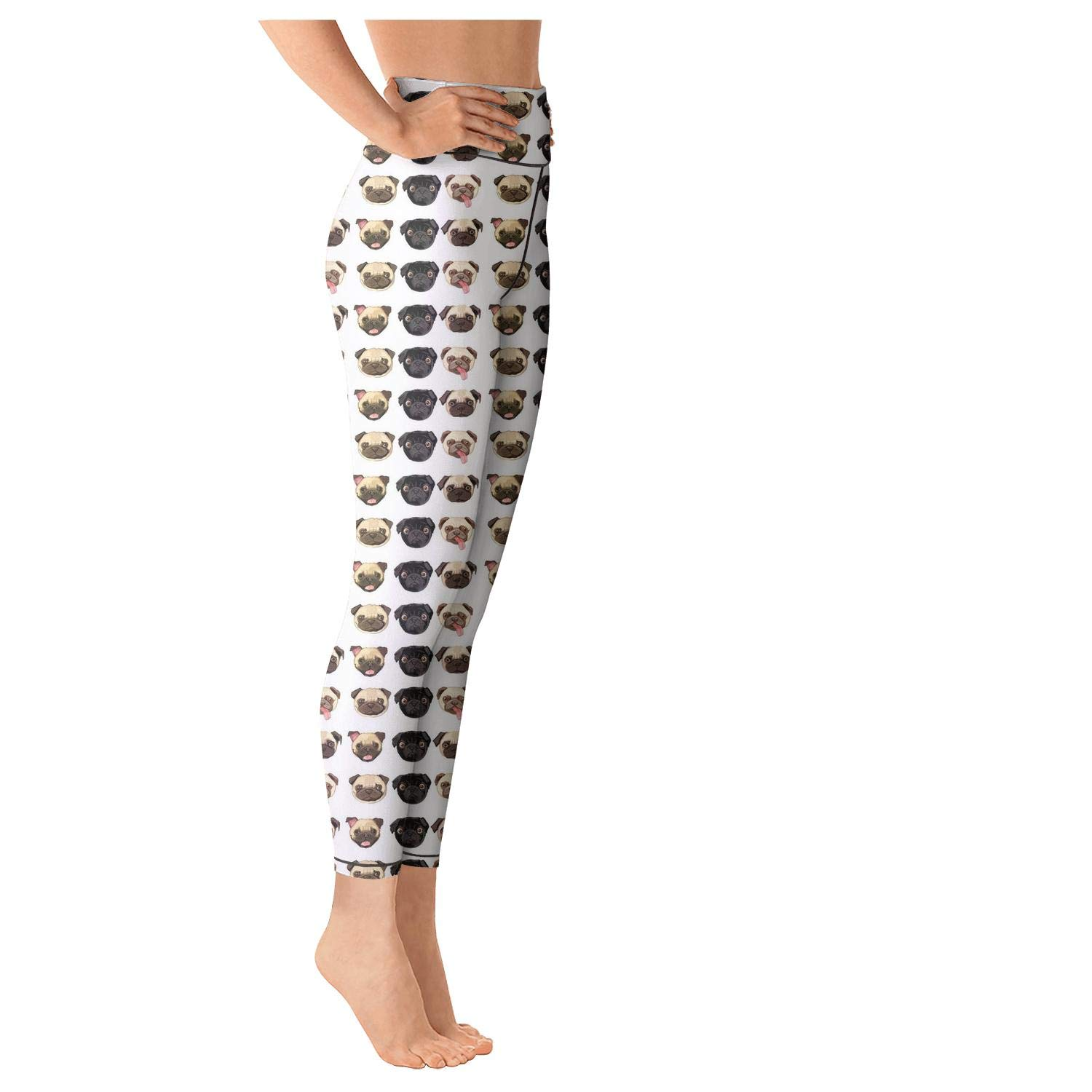 AWAWE Cute Pug Dog Baby Yoga Tights Gym Outfits