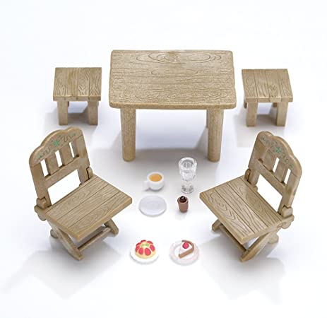 Charming Calico Critters Country Patio Furniture Set
