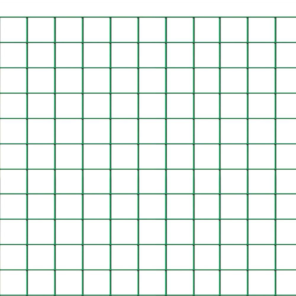 Rete recinzione metallica plastificata 1x10 mt maglia quadrata 13x13 RETEP131310 Polato
