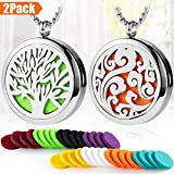 aroma accessories - 2PCS Essential Oil Diffuser Necklace Set, 316L Stainless Steel Aromatherapy Diffuser Locket Necklace Pendant with 24