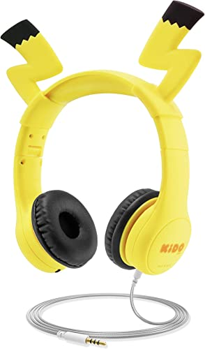 Kids Headphones with VoliBolt Ears, Mumba Wired Over-Ear Headphones with Music Sharing Function, 85dB Volume Limited Hearing Protection,Safe Food Grade Material, 3.5mm Jack HS01 Headset for Children