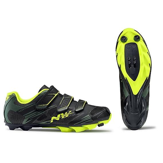 Northwave Scorpius 2 Chaussures de vélo de montagne, black-Military/ Yellow fluo, Taille:gr. 46