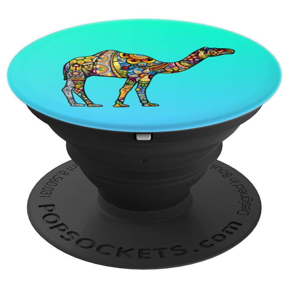 Beautiful Camel Totem Tattoo Art - PopSockets Grip and Stand for Phones and Tablets