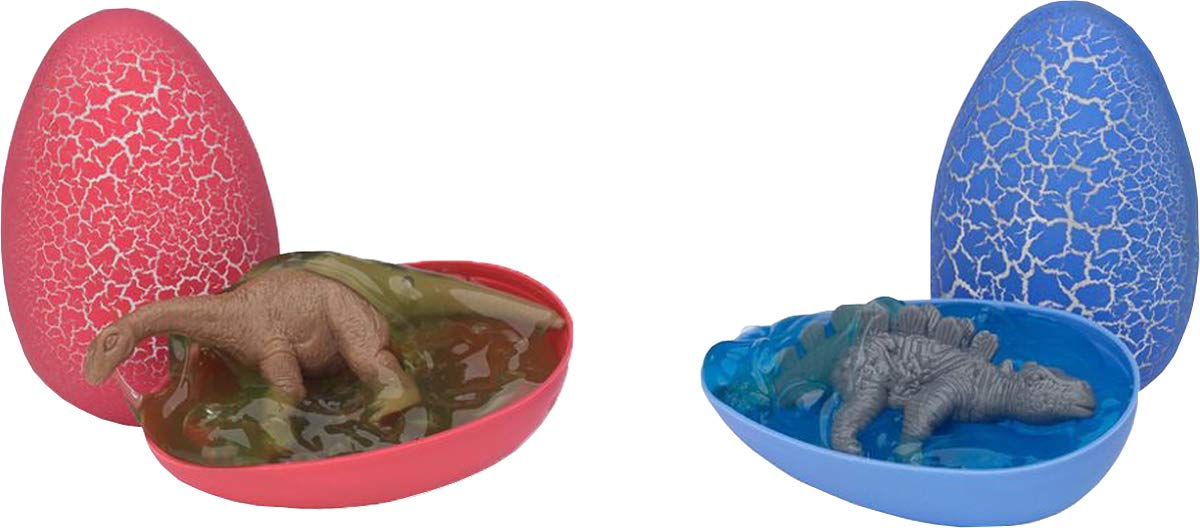 Kids Games Fun Play Dino Eggs Crystal Putty Assorted Colour Box Of 12 Pack Of 3 by Smiffys