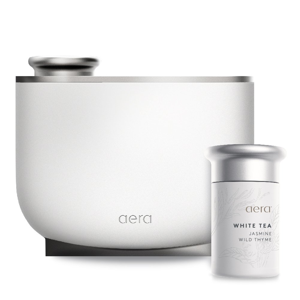 Aera Smart Fragrance Electric Diffuser, App Controlled Home Fragrance, Includes White Tea Home Fragrance Capsule