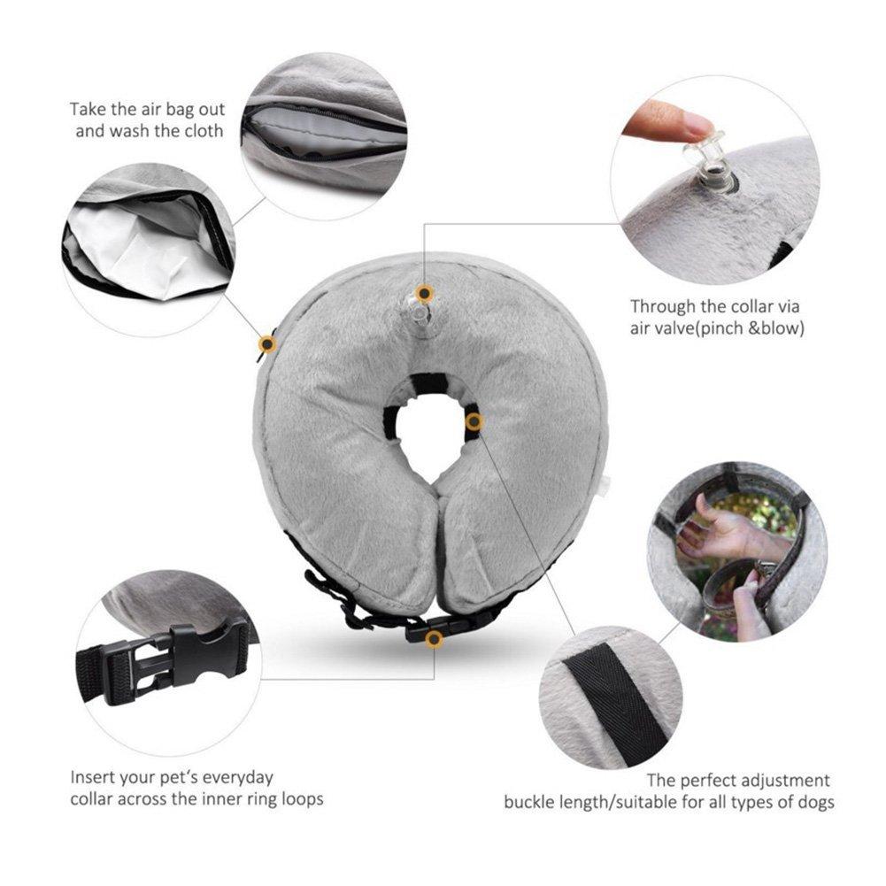 Amazon.com: TizzyPet - Collar hinchable protector para ...
