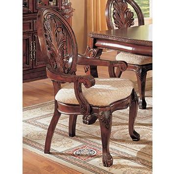 Amazon.com: Juego de sillas de comedor (2 Brazo con balón y ...