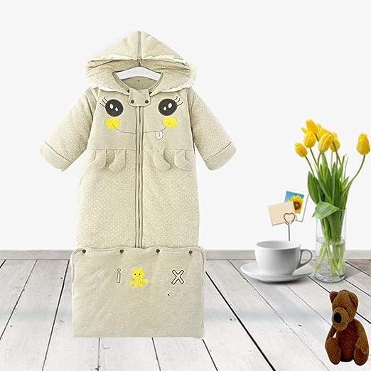 FLHLH Swaddles de algodón orgánico, Saco de Dormir Acolchado para niños, Forrado con algodón Suave, cálido y Antideslizante Desmontable, Verde, Saco de Dormir de Invierno para bebés: Amazon.es: Hogar