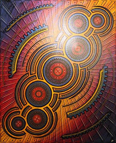 (Modern painting : Infernal cycle (80 x 100 cm))