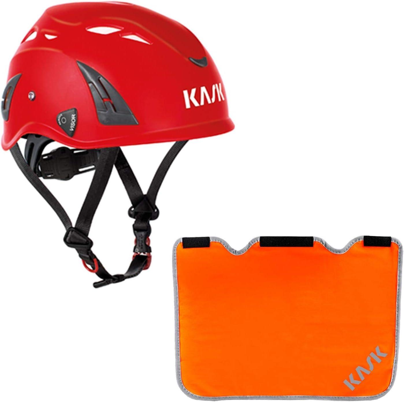 Bergsteigerhelm Drehrad Nackenschutz orange mit BG Bau F/örderung Industriekletterhelm Plasma AQ- Arbeitsschutzhelm KASK Schutzhelm Farbe:hellblau