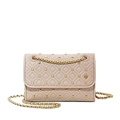 79b860f9edc2c Tory Burch Fleming Convertible Small Leather Shoulder Bag (Stud Goan Sand)   Handbags  Amazon.com