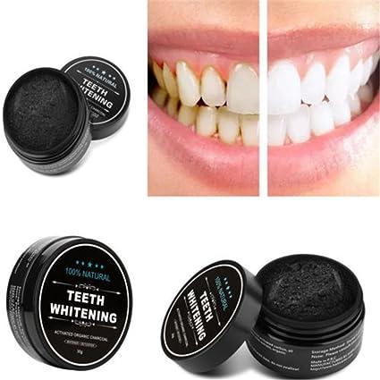 unke naturales orgánicos activado carbón dientes blanqueamiento quitamanchas polvo 75 g