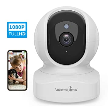 Wansview WiFi IP Camera, 1080P Wireless Home Security Camera Q5 for Baby,  Elder, Pet Camera Monitor with Motion Detection 2-Way Audio Night Vision  Pan