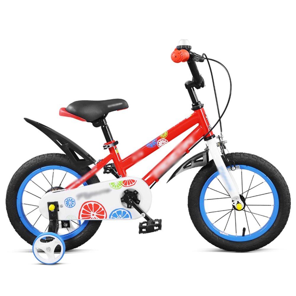 HAIZHEN マウンテンバイク 子供用自転車ベビーカー14/16インチマウンテンバイクレッドイエロー調節可能ハンドルバーシート 新生児 B07C6WS97J 14 inches|赤 赤 14 inches