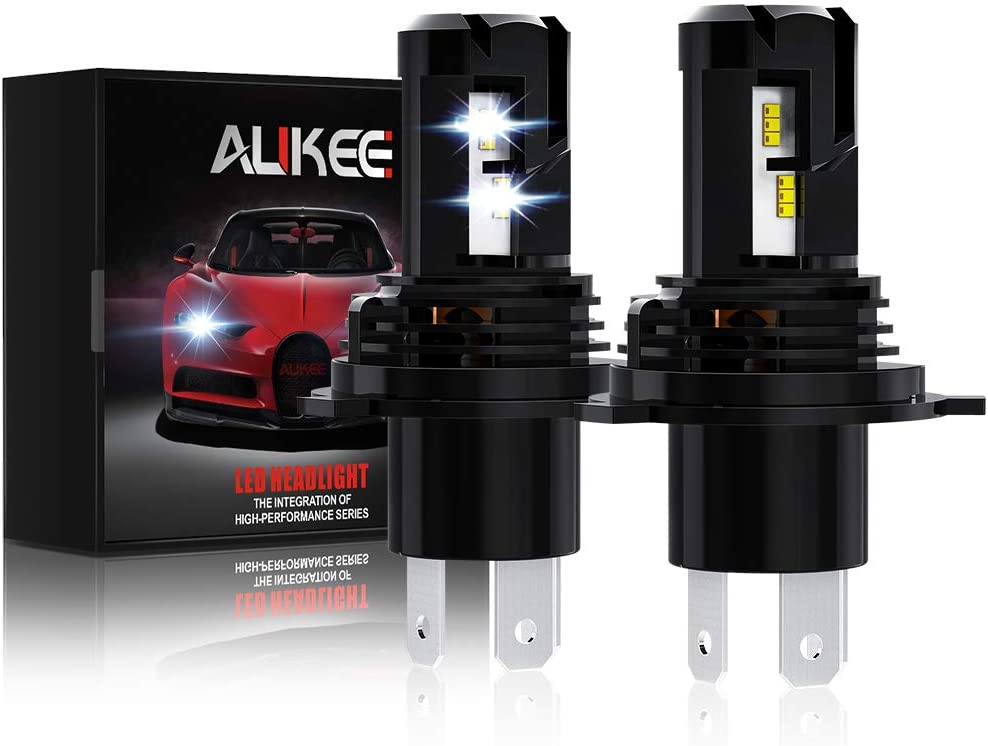 Aukee H4 LED Headlight Bulb, 9003 Hi Lo Beam 12000Lm 6000K 60W Extremely Bright All-in-One Conversion Kit