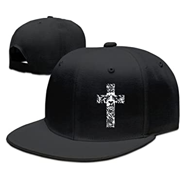Amazon.com  Lion Cross Religious Christian Rasta Funny Baseball Caps ... e59db18163e