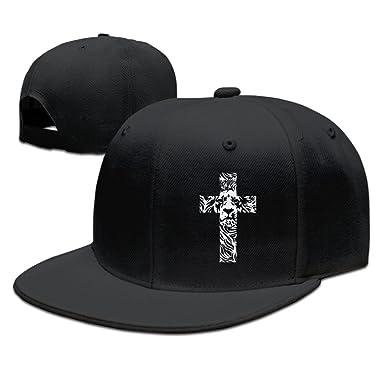 Amazon.com  Lion Cross Religious Christian Rasta Funny Baseball Caps ... c7d7c53681f0