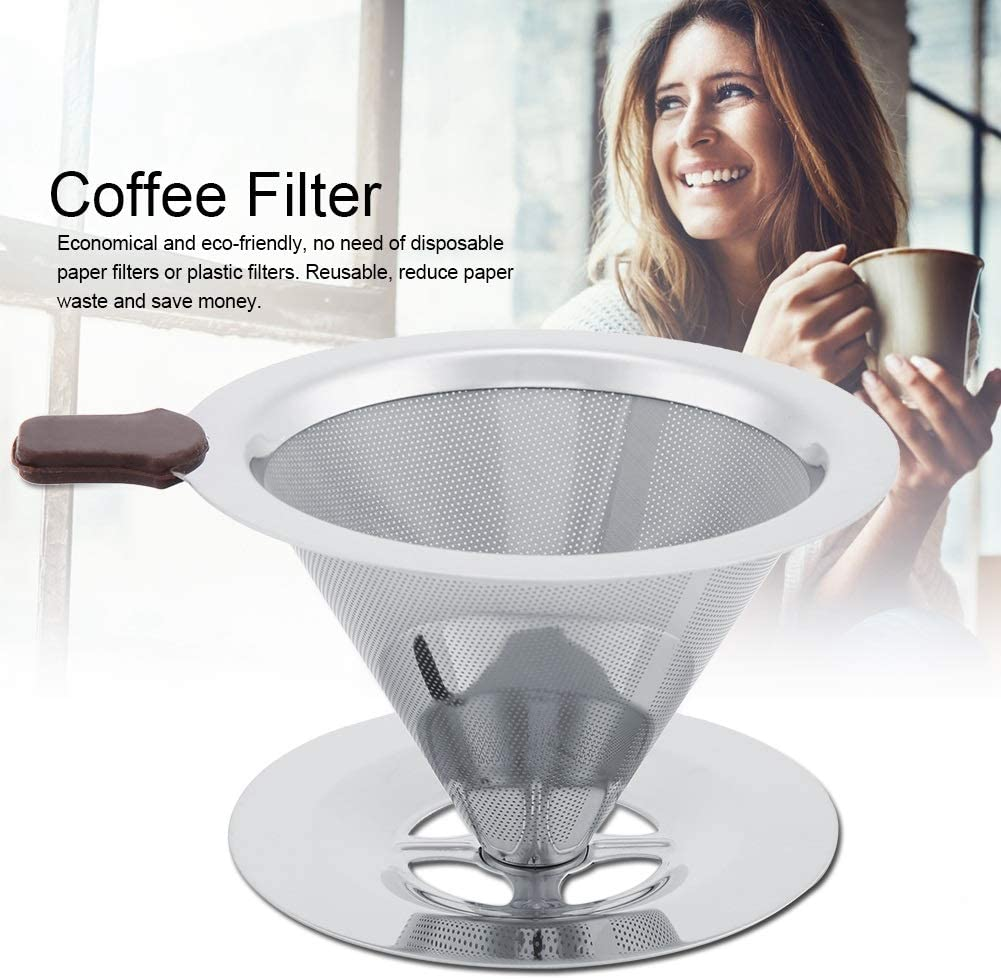 Coffee Filter Coffee Filter in Stainless Steel for Coffee Making Manual Coffee Filter for Reusable Without Paper