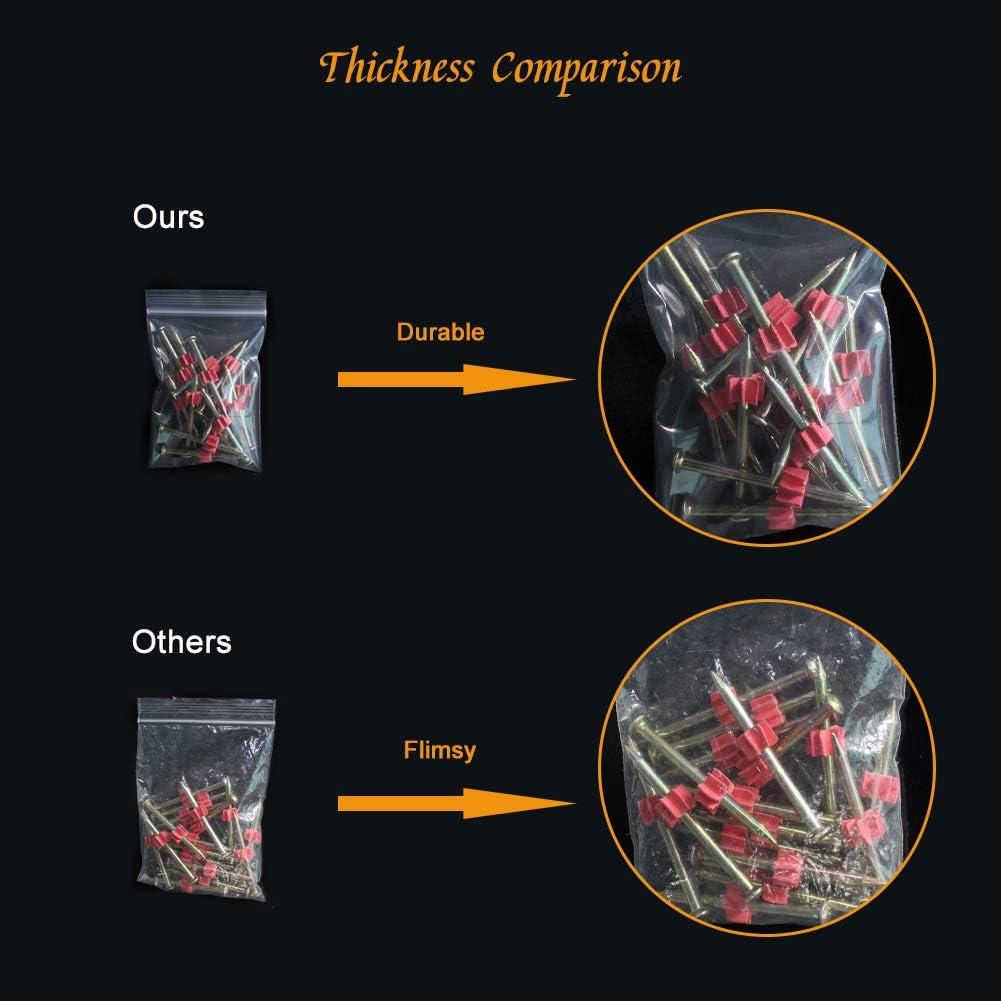 Cocina DARUITE Bolsitas Plastico Peque/ñas Bolsas Zip Reutilizable Congelar Transparente Cierre Cremallera Autocierre Bag para Joyer/ía 16 x 24 cm 100PCS Chuches
