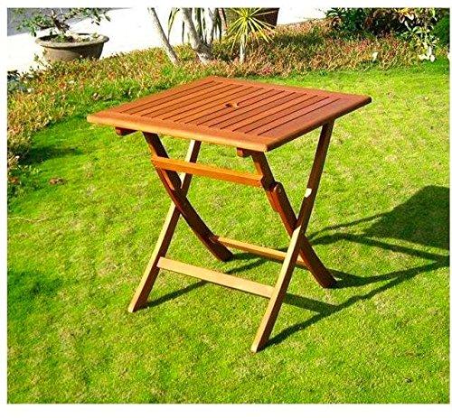 Tavoli Da Giardino Pieghevoli In Legno.Amicasa Tavolo Da Giardino Pieghevole In Legno Tavolino Quadrato