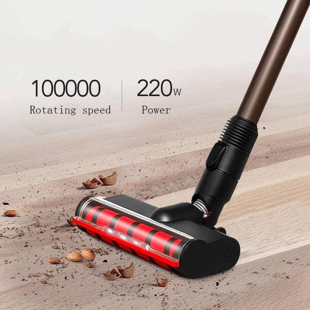 Lsmaa Ultra Quiet Mini Accueil Rod Aspirateur Portable collecteur de poussière Accueil Aspirateur à Main Aspirateur Gris (Color : Gray) Gray
