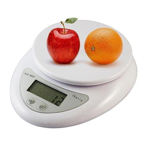 jindin 5 kg/1g cuchillo de cocina comedor de alimentos Digital Peso Báscula Dieta –