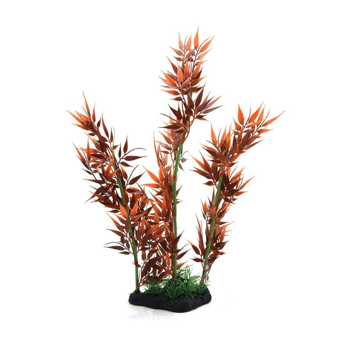 sourcing map Acuario Planta Hierbas Decorativas Decoración Paisaje Subacuático Ornamento Decoración Color Rojo Ladrillo: Amazon.es: Productos para mascotas