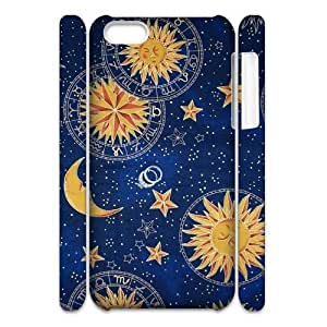 Sun Moon Pattern DIY 3D Cover Case for Iphone 5C,personalized phone case ygtg543962