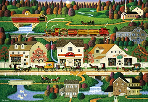 Yankees Buffalo (Buffalo Games - Charles Wysocki - Yankee Wink Hollow - 1000 Large Piece Jigsaw Puzzle)