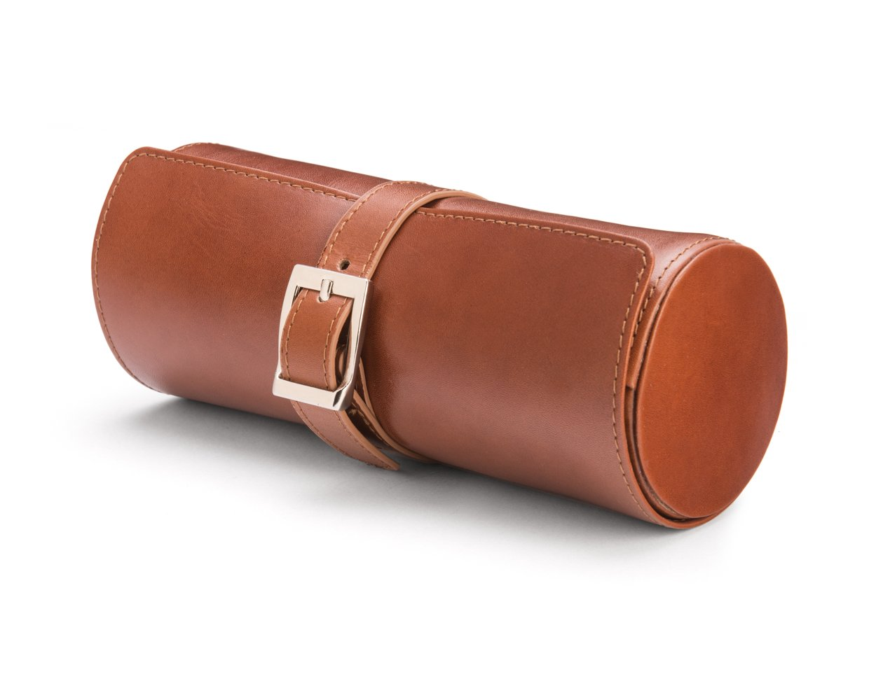 SAGEBROWN Havana Tan With Green Large Watch Roll by Sage Brown (Image #2)