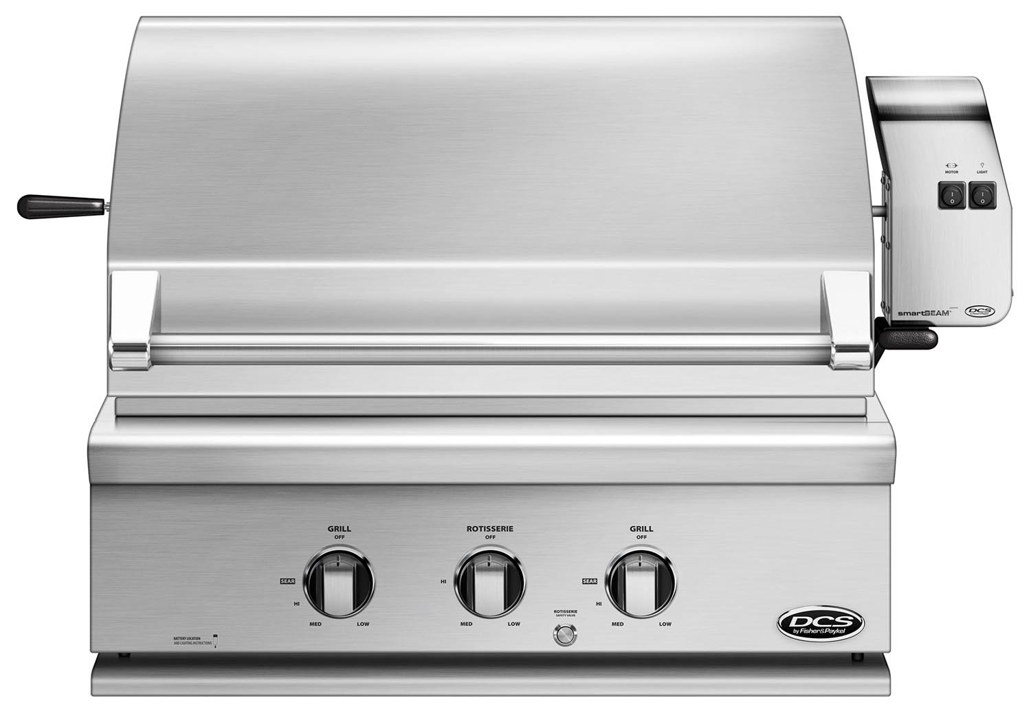 DCS 30-Inch Built-In Propane Gas Grill with Rotisserie