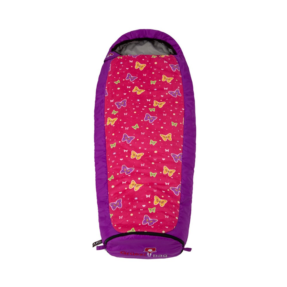 Lila Gr/üezi+Bag Kinder Kinderschlafsack Mitwachsend Grow Butterfly RV Links Schlafsack 34 x 20 x 20 cm
