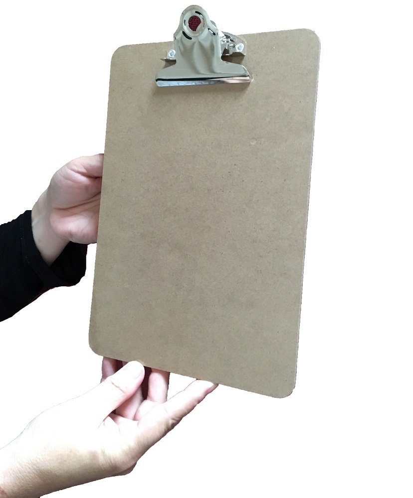 pack of 10 from 9to5 Supplies A5 Wooden Mini Menu Clipboards with chrome clip